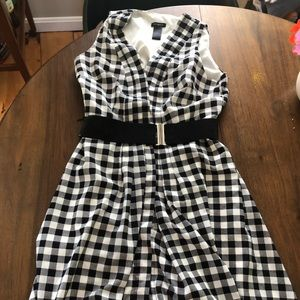 Ann Taylor | Vintage cut, plaid dress sz 0